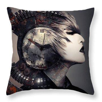 The Woman That Time Forgot Throw Pillow