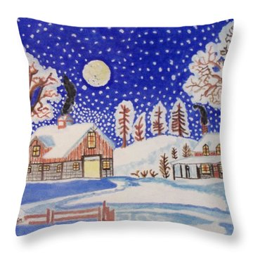 The Wonder Of Winter Throw Pillow