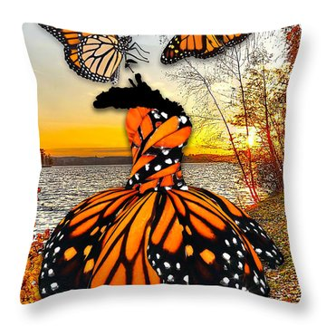 Throw Pillow featuring the mixed media The Wonder Of You by Marvin Blaine
