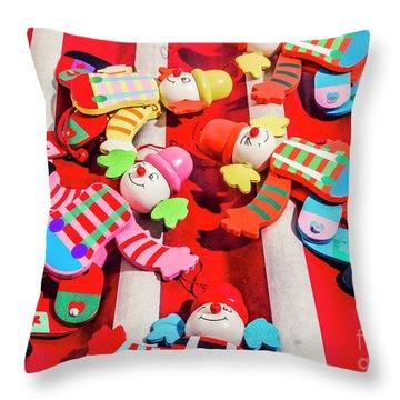 The Wood Circus Throw Pillow