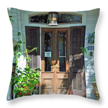 Throw Pillow featuring the photograph The Wood Doors by Jost Houk