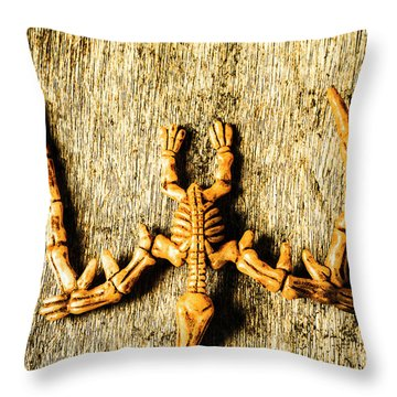 The Wooden Pterosaur Throw Pillow