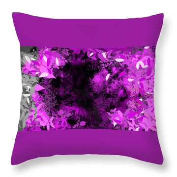 Throw Pillow featuring the painting The Woods by Antonio Romero