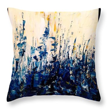 The Woods - Blue No.1 Throw Pillow
