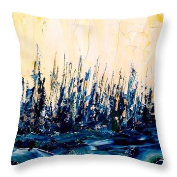 The Woods - Blue No.2 Throw Pillow