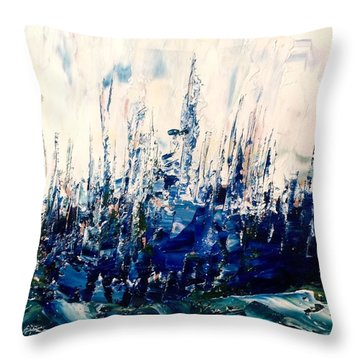 The Woods - Blue No.3 Throw Pillow