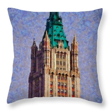 The Wooldworth Building Throw Pillow