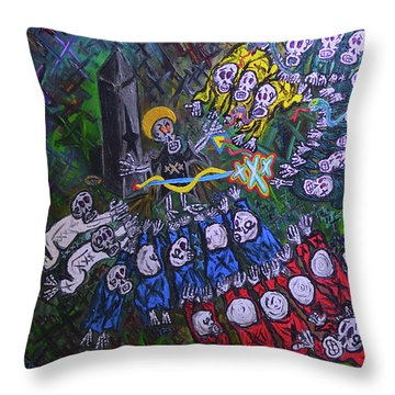 The Wooorship Throw Pillow