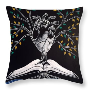 The Word Is Life Throw Pillow