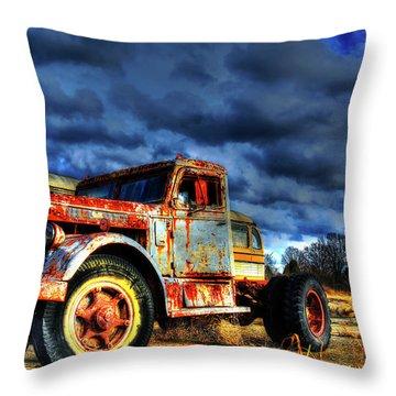 The Workhorse Throw Pillow