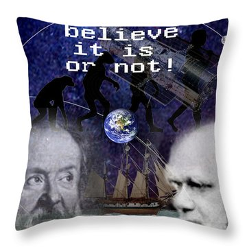 The World Is Round Throw Pillow by Steve Karol