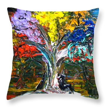 The World Moves For Love By Colleen Ranney Throw Pillow