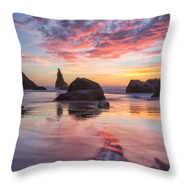 Throw Pillow featuring the photograph The World Of Bandon by Patricia Davidson