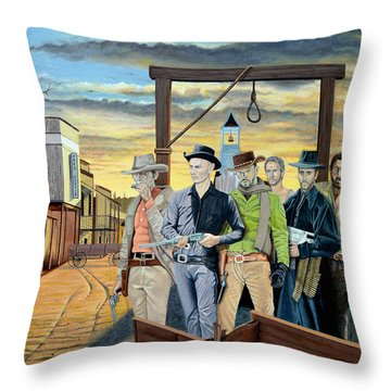 The World Of Classic Westerns Throw Pillow by Tony Banos