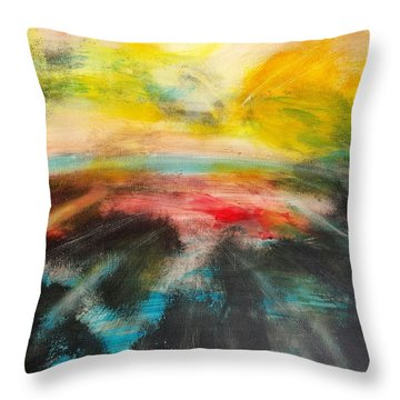 The World On Fire Throw Pillow