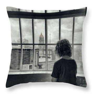 The World Outside My Window Throw Pillow by Laurinda Bowling