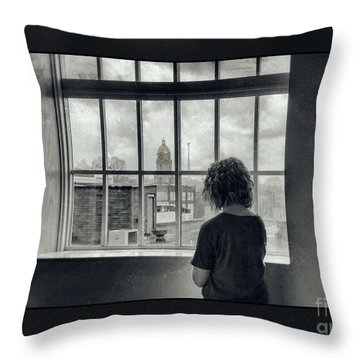 The World Outside My Window Number II  Throw Pillow by Laurinda Bowling