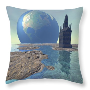 The World Turns Throw Pillow by Corey Ford