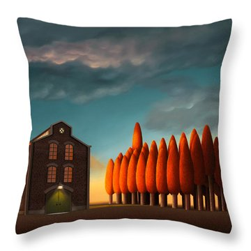 The Worried One Throw Pillow