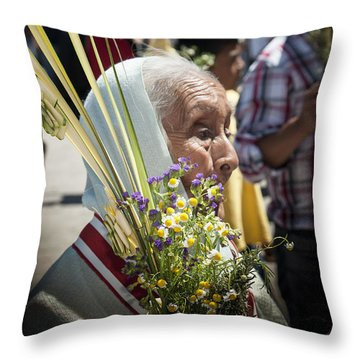 The Worshipper  Throw Pillow