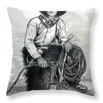 The Wrangler Throw Pillow by Karon Melillo DeVega