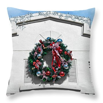 The Wreath Throw Pillow by Christopher Holmes