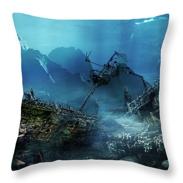 The Wreck Throw Pillow by Mary Hood