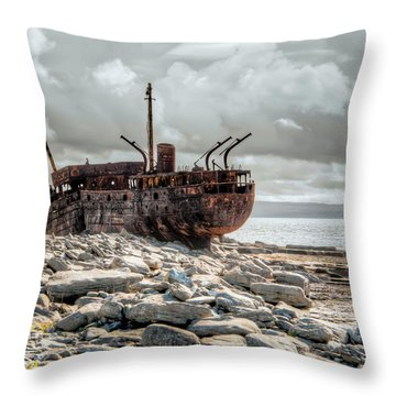 The Wreck Of Plassey Throw Pillow
