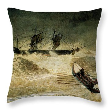 The Wreck Of The Iron Cloud, 1881 Throw Pillow