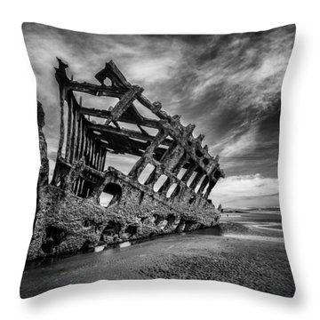The Wreck Of The Peter Iredale Throw Pillow