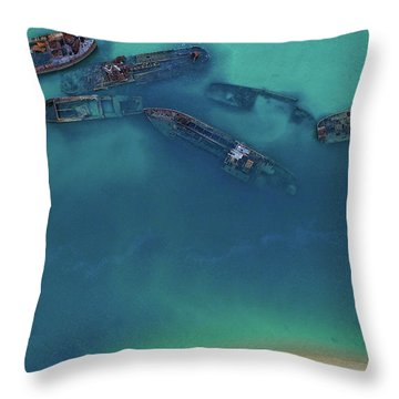 The Wrecks Throw Pillow