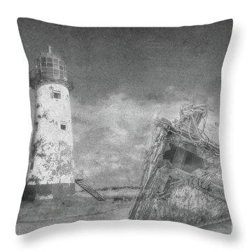 The Wrecks  Throw Pillow by Steev Stamford