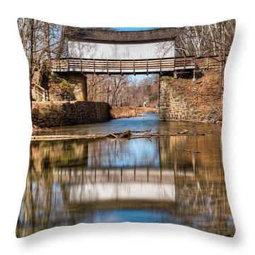 Throw Pillow featuring the photograph The Wrench House by Dennis Dame