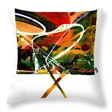 Throw Pillow featuring the mixed media The X Factor by Angela L Walker