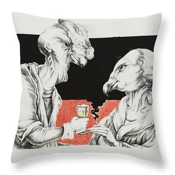 The Xs Throw Pillow by Yvonne Wright