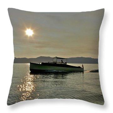 The Yacht Miami Throw Pillow