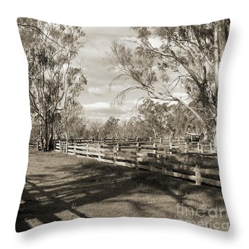 Throw Pillow featuring the photograph The Yards by Linda Lees