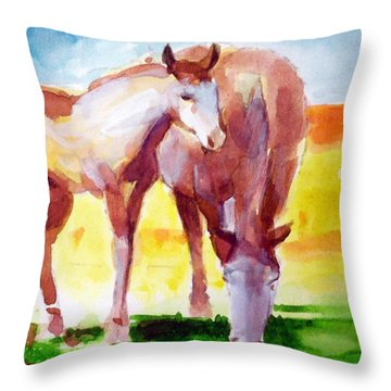 The Yearling Throw Pillow by Ed  Heaton