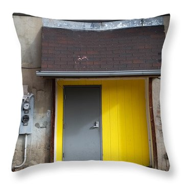 The Yellow Birds Throw Pillow by Monte Stevens