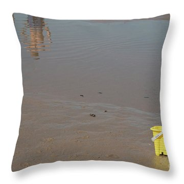 The Yellow Bucket Throw Pillow
