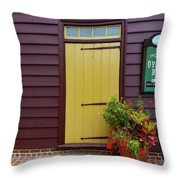The Yellow Door In Annapolis Throw Pillow
