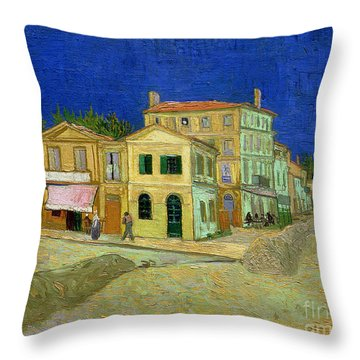 The Yellow House Throw Pillow by Vincent Van Gogh