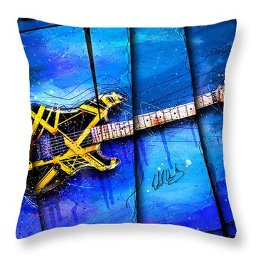 The Yellow Jacket Throw Pillow by Gary Bodnar