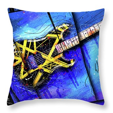 The Yellow Jacket_cropped Throw Pillow by Gary Bodnar