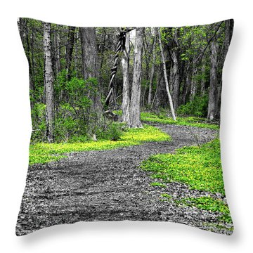 The Yellow Marsh Marigolds Of Spring Throw Pillow