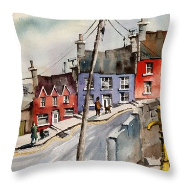 The Yellow Pump, Eyeries, Cork Throw Pillow