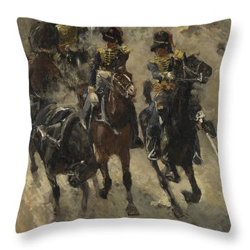 The Yellow Riders, George Hendrik Breitner, 1885 - 1886 Throw Pillow
