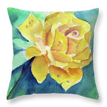 The Yellow Rose Throw Pillow