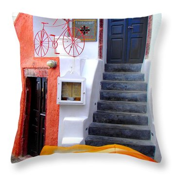 Throw Pillow featuring the photograph The Yellow Scarf by Ana Maria Edulescu