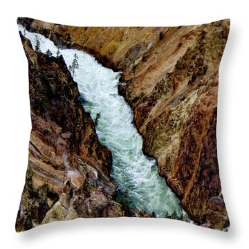 The Yellowstone Throw Pillow